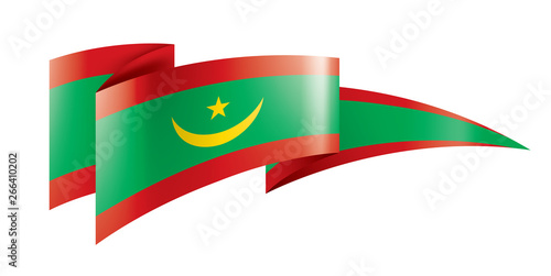 Poster Algérie Mauritania flag, vector illustration on a white background
