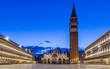 Venedig Markusplatz Blaue Stunde am Morgen