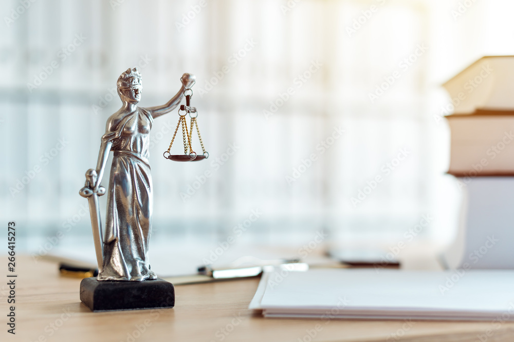 Fototapeta Lady Justice statue in law firm office