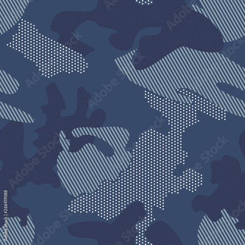 Modern dot camouflage background. Seamless pattern vector. Canvas Print