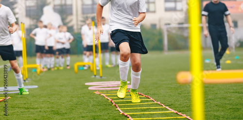 Obraz na płótnie Boy Soccer Player In Training