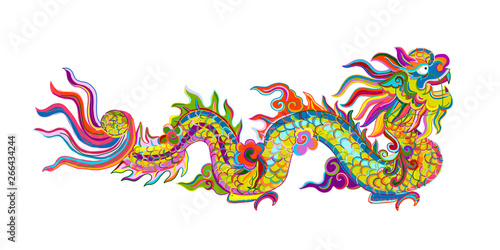 Fotografie, Obraz Chinese dragon for your design