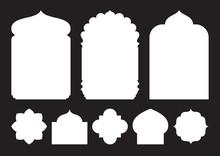 Set Of Oriental Style Windows ...