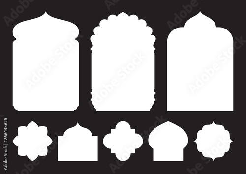 Photo Set of oriental style windows and arches