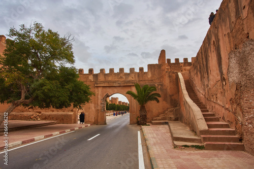 Fortress wall in the city of Taroudant