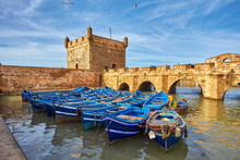 Sqala Du Port, A Defensive Tower At The Fishing Port Of Essaouira,