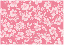 Seamless Hibiscus Illustration Pattern, Pink, Background Image Of Southern Country And Hawaii And Tropical Image | Apparel, Textile