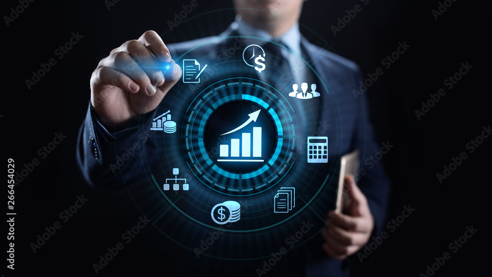 Fototapeta Accounting Accountancy Banking Calculation Business finance concept.