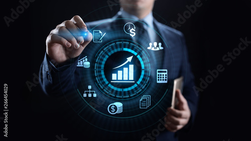 Obraz Accounting Accountancy Banking Calculation Business finance concept. - fototapety do salonu