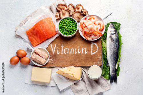 Foods rich in natural vitamin D Fototapeta