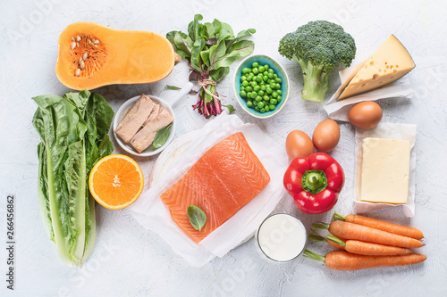 Fototapeta Foods rich in vitamin A obraz
