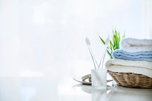 Mockup Soft Towels In Basket A...