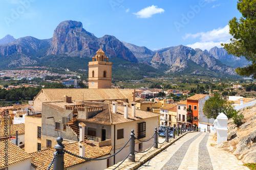 Poster de jardin Europe Méditérranéenne Beautiful mountain village Polop de la Marina, Spain