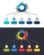 canvas print picture - infographic template with integrated circles. Business concept with multiple options. Can be used for content, diagram, flowchart, steps, timeline infographics, workflow, chart.