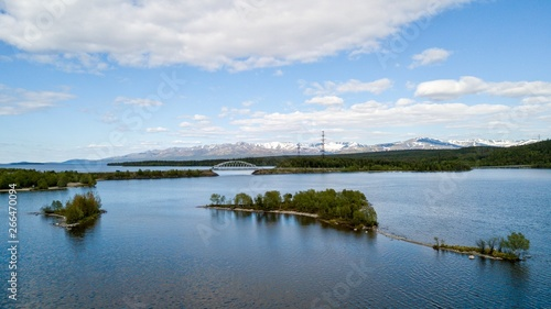 Ekostrovsky bridge, Apatity, Murmansk Region Canvas Print