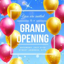 Grand Opening Invitation Banne...