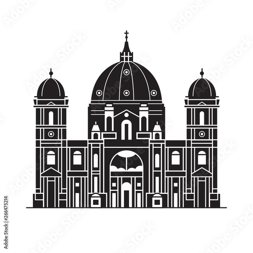 Leinwand Poster Berlin Cathedral Icon