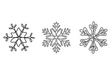 Continuous One Line Set Of Sno...
