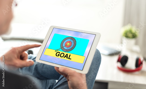 Goal concept on a tablet