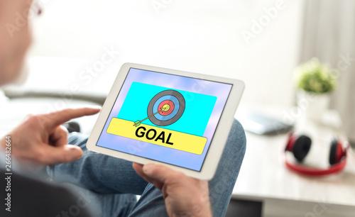 Goal concept on a tablet