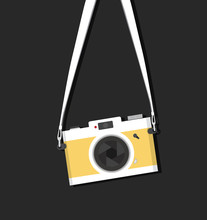 Hanging Vintage Camera With St...