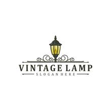Vintage Lamp Logo Design