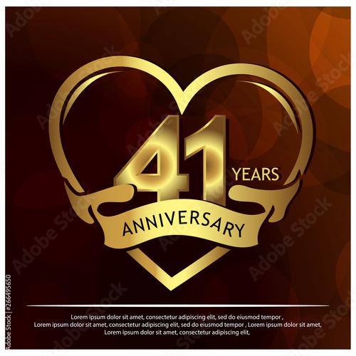 Tela 41 years anniversary golden