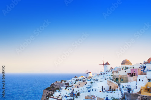 Fototapeta Santorini in the morning light. Greece landmark obraz
