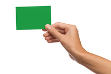 Green Card In Woman's Hand