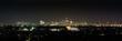 canvas print picture - Nachtaufnahme von der weit entfernten Skyline von Sydney Australien