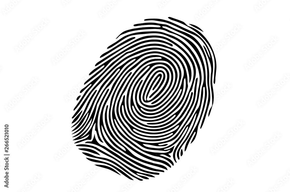 Fototapeta Finger, Fingerabdruck, Daumen, Abbild, Spur, Beleg, Beweis, Idee