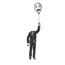 Gentleman With Air Balloon Hea...