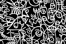 Black And White Pattern On Whi...