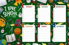 School Timetable Week Schedule...