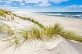 Fototapeta Łazienka - Pusta dzika plaża koło Mrzeżyna nad Bałtykiem w Polsce