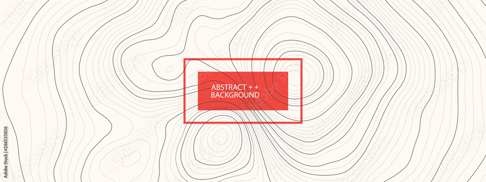 Fototapety, obrazy: Vector landscape geodesy topography map background. Line texture pattern.