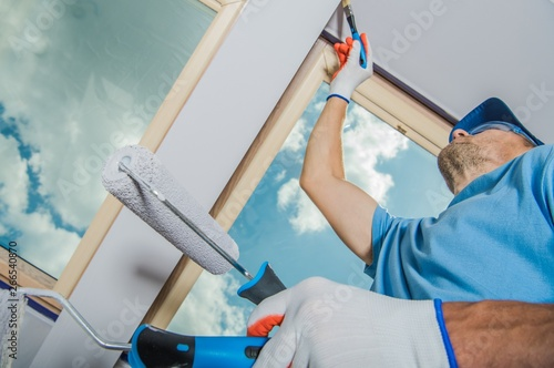 Caucasian Room Painter
