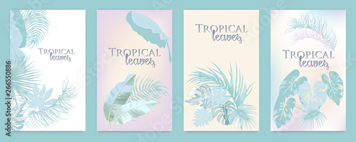 Fototapety, obrazy: Vector tropical background in pastel colors.