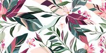 Botanic Seamless Pattern With ...