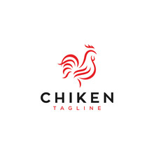 Abstract Chiken Logo Design