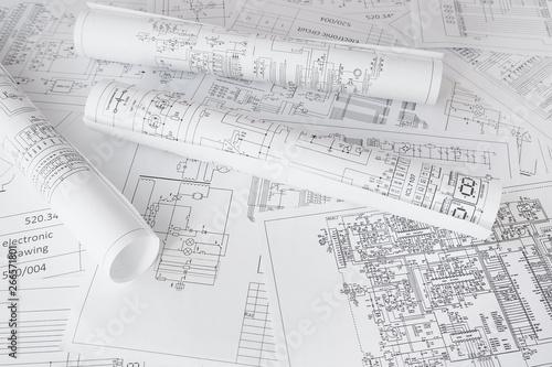 Fotografie, Obraz  electrical engineering drawings