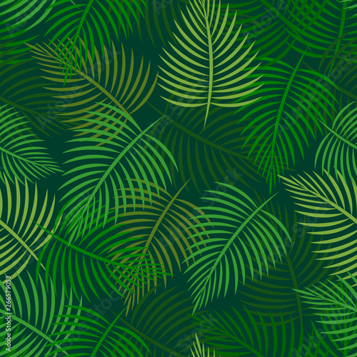 Türaufkleber Künstlich Tropical palm leaves, jungle leaves. Can be used for posters, web banners, flyers, prints,postcards,business cards. Vector palm seamless background..