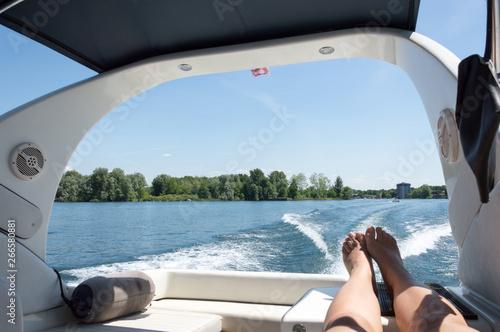 Valokuva  Sunny day on the Lake Maggiore, northern Italy