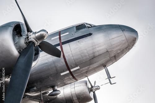 Fotografie, Obraz  historical aircraft against the sky