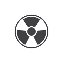 Radiation Vector Icon. Filled Flat Sign For Mobile Concept And Web Design. Nuclear Hazard Glyph Icon. Symbol, Logo Illustration. Pixel Perfect Vector Graphics