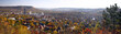 canvas print picture - Jena - Panorama im Herbst