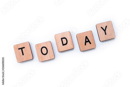 Cuadros en Lienzo The word TODAY