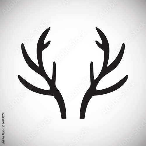 Valokuva  Animal Horn icon on background for graphic and web design