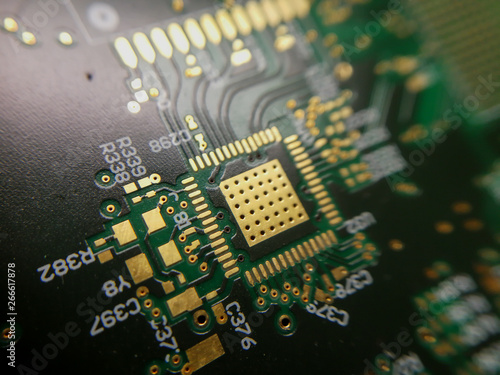 Canvas Prints Macro photography Macro close up of PCB QFN footprint