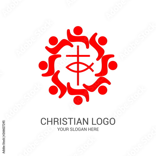 Photo Church logo and biblical symbols